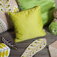 Zöld selyemfényű párna