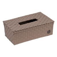 HANDED BY: Kézzel szőtt dobozos papírzsepi tartó TAUPE