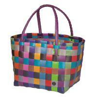 HANDED BY: Kézzel szőtt táska multi color mix - újrahasznosított műanyagból
