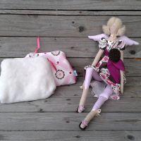Rózsaszín csokoládé szett: Barna virágos nagylány