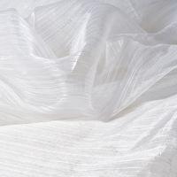 Fehér csillogó átlátszó függönyanyag